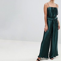Finders Pleated Exclusive Wide Leg Co Ord Trouser at asos.com