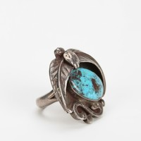 Vintage Turquoise Feather Ring - Urban Outfitters