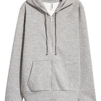 Hooded Sweatshirt Jacket - Grey marl - | H&M US