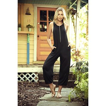 Black Comfy Jumpsuit Summer Outfit