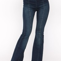 Flare Pull On Jeans
