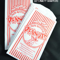 PEANUT BAGS--(30) Retro Monkey Peanut Bags: Carnival Party, Circus Party, Tailgating, Sport Events, Movie Nights