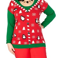 Penguin Party Ugly Christmas Sweater