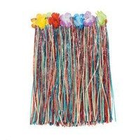 Amazon.com: Luau (Pack Of 3) Multi-Color Child's Hula Party Skirts - Floral Waistbands: Toys & Games