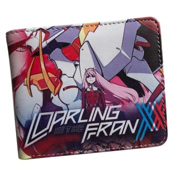 Cool Attack on Titan wallet anime in the darling anime franxx/DEATH NOTE/Super Mario/ONE PIECE//NARUTO wallet female AT_90_11