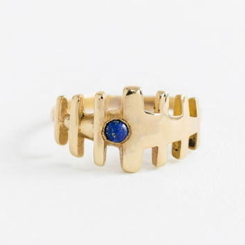 Lapis Duplet Ring by Renée Frances Jewelry for Of a Kind