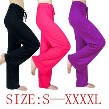 Women  Plus Size Modal Sports  Yoga Pants M-4XL [8270480513]