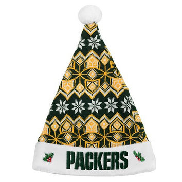 GREEN BAY PACKERS 2015 KNIT SANTA HAT