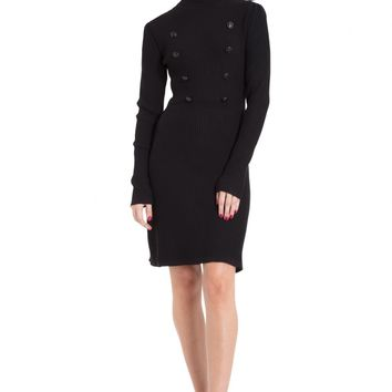 Jawbreaker Black Military Knit Dress