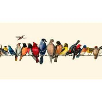 Large Bird Menagerie Art Print by Wendy Russell at Art.com