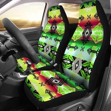 Sovereign Nation Green Set of 2 Car Seat Covers