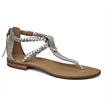 Jenna Sandal in Silver by Jack Rogers - FINAL SALE