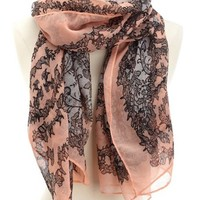 FLORAL & LACE PRINT SCARF