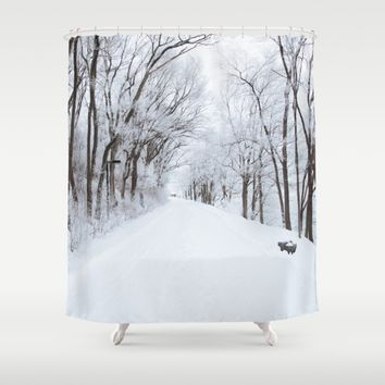 Winter Memories Shower Curtain by Gallery One