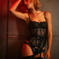 Love Basque Black from Agent Provocateur: Designer Lingerie Online