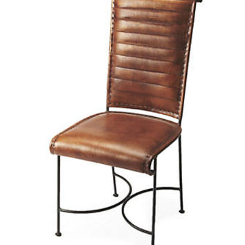 Butler Specialty Company Buxton Iron & Leather Side Chair