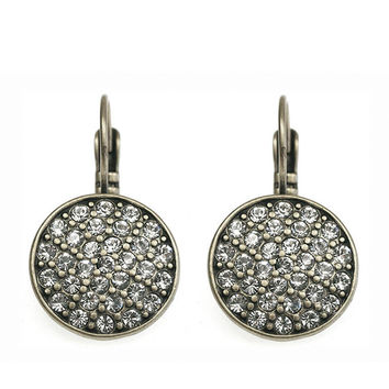 CZ DROP EARRINGS - SILVER