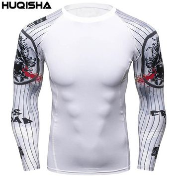 3D Winter Soldier Avengers 3 Compression Shirt Men Long Sleeve Fitness Crossfit T Shirts Male Clothing Tops Halloween Costum