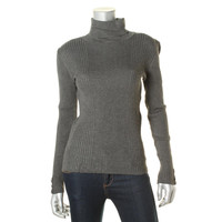 Style & Co. Womens Ribbed Knit Long Sleeves Turtleneck Sweater