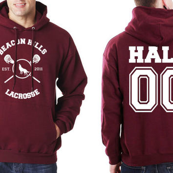 Hale 00 Beacon Hills Lacrosse Teen Wolf Unisex Hoodie S to 3XL