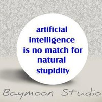 Artificial Intelligence is No Match for Natural Stupidity by BAYMOONSTUDIO