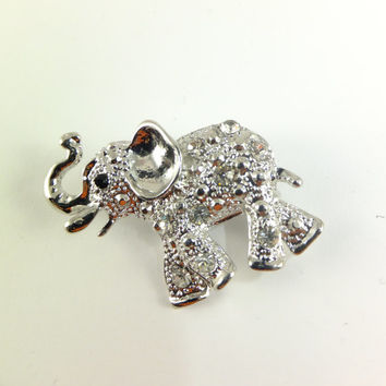 Elephant Crystal Rhinestone Pin Brooch Jewelry Gift for Her happiness Charm Hat Pin Scarf Jewelry Dress Jewelry Accent Special Occasion