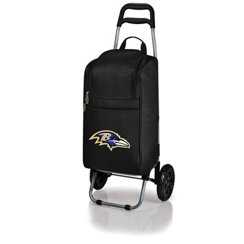 Baltimore Ravens - Cart Cooler with Trolley (Black)