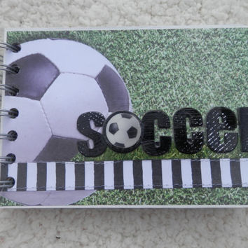 4x6 Soccer Chipboard Mini Scrapbook