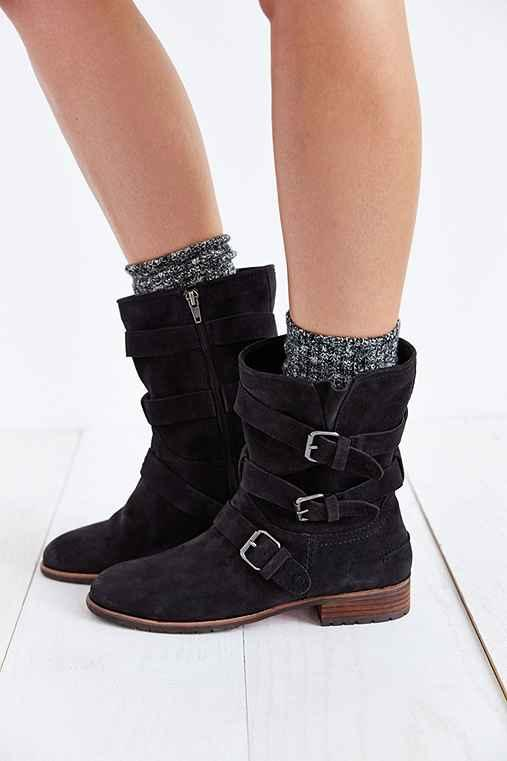 Dolce Vita Womens Charcoal Suede Boots Ferin