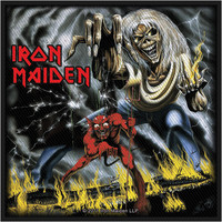 Iron Maiden Men's Number Of The Beast Woven Patch Black