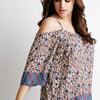 Floral Print Open-Shoulder Top