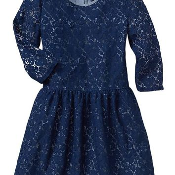 Gap Girls Factory Floral Lace Dress
