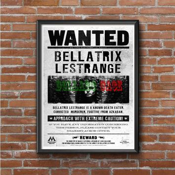 Bellatrix Lestrange Wanted Harry Potter Movies Photo Poster