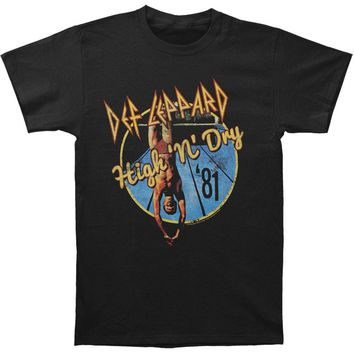 Def Leppard Men's  High 'N' Dry Slim Fit T-shirt Black