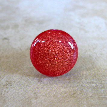 Dichroic Glass Tie Tack Red Dichroic Scarf Pin by mysassyglass