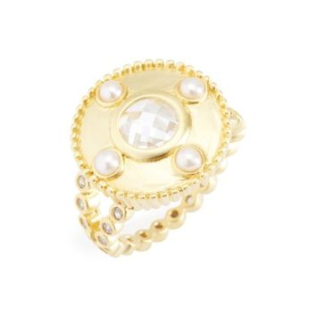 FREIDA ROTHMAN Audrey Studded Cocktail Ring | Nordstrom
