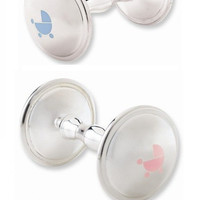 Twin Baby Silver Plated Rattle Set