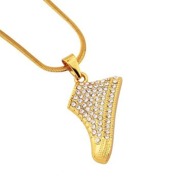 New Arrival Gift Stylish Jewelry Shiny Alloy Diamonds Shoes Necklace [10768846147]