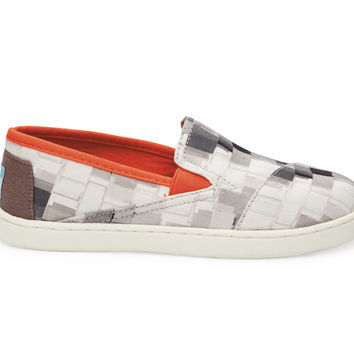 TOMS Grey Paint Dabs Youth Avalon Sneakers Grey