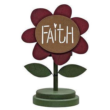Faith Flower Tealight Holder