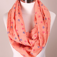 Nautical Anchor Infinity Scarf
