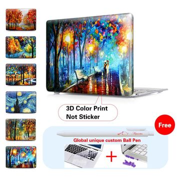 Nature Oil Painting Case For 2016 New Apple Mac Macbook Pro 15 Cover Air 11 13 15 Inch with / out Touch bar A1706 A1707 A1708