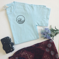 The Great Wave Chambray T-Shirt (Unisex)
