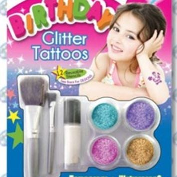 Birthday Glitter Tattoos