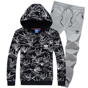 DCCKNY1Q Boys & Men Adidas Top Sweater Pullover Hoodie Pants Trousers Set Two-Piece Sportswear