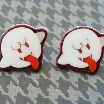 Boo - Super Mario - Stud Earrings