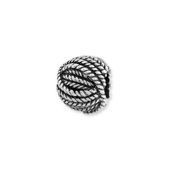 Ball of Yarn Charm in Silver for 3mm Charm Bracelets