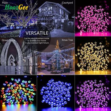 Solar String Lights Outdoor 50/100/200 LED 8 Mode 7M/12M/22M Wire Fairy Lamp Garden Party Decor X'mas Lighting