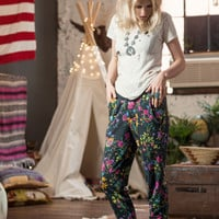 Gypsy Queen Slouchies - Black Floral