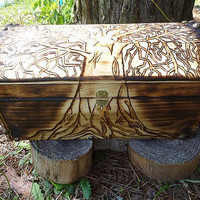 Tree of Life Wooden Chest